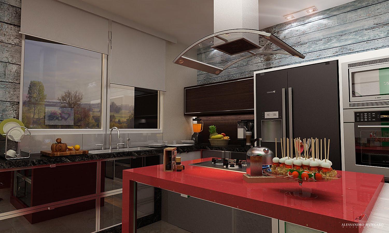 Arquitetura e Interiores: Cozinha Moderna Elis Regina Maringá PR #A65B25 1500 900