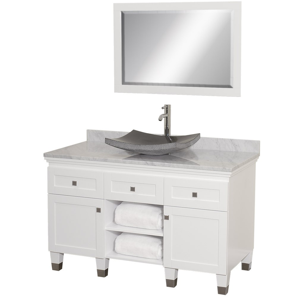 Luxury Fresh Look Of A White Bathroom Vanity
