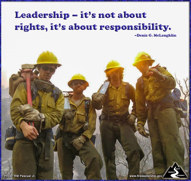 Leadership – it's not about rights, it's about responsibility. – Denis G. McLaughlin