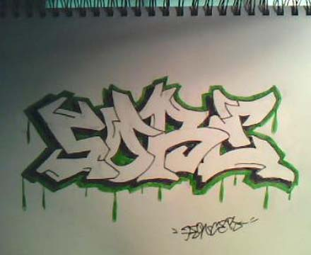 how to make a cool graffiti name