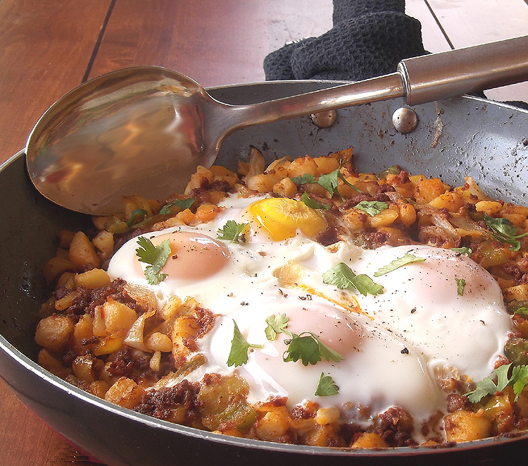 Potato, Pepper and Chorizo Hash with Fried Eggs from All You Magazine ...