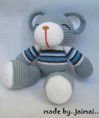 Amigurumi Au Crochet Modele Gratuit : Ours Gris - Patron Crochet Amigurumi gratuit, en francais ...