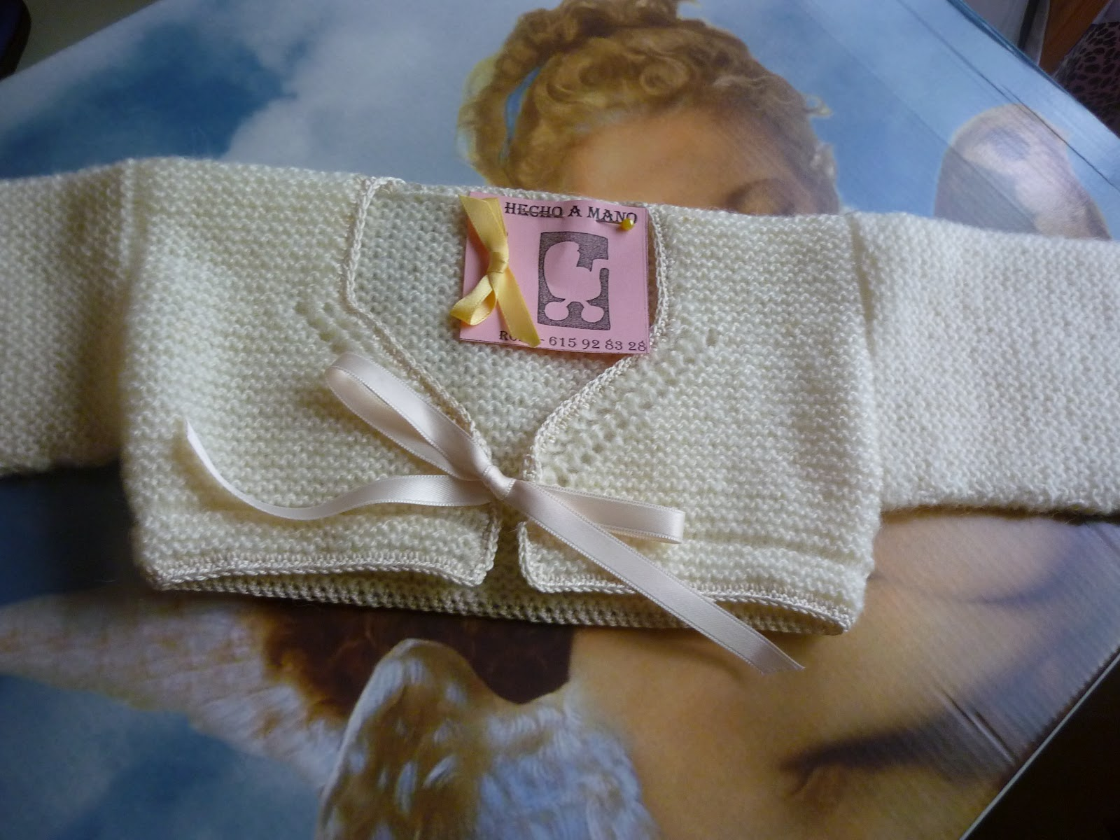 En rosa y con Lacitos!: Invierno, chaqueta para niña.