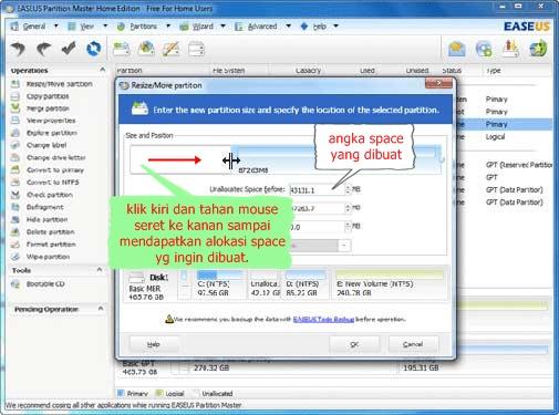 Cara Mudah Membagi Partisi Hardisk di Windows Menggunakan EaseUS Partition Manager