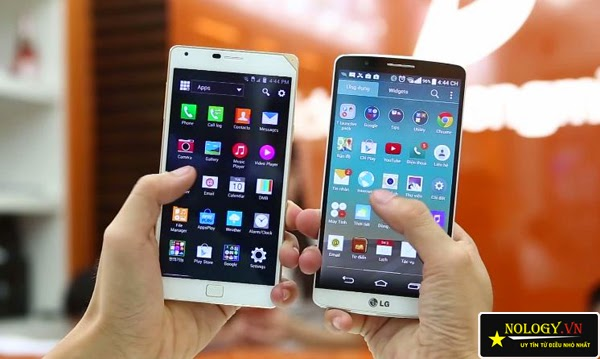 Sky A910 và LG G3 đọ dáng.