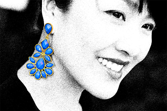 Amrita Singh Blue Earrings