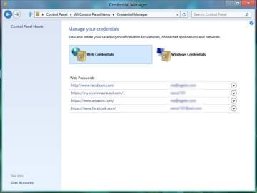 Gerenciamento de senhas no Windows 8