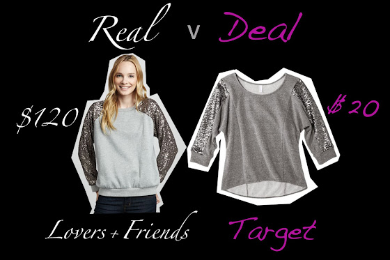 real versus deal featuring Target