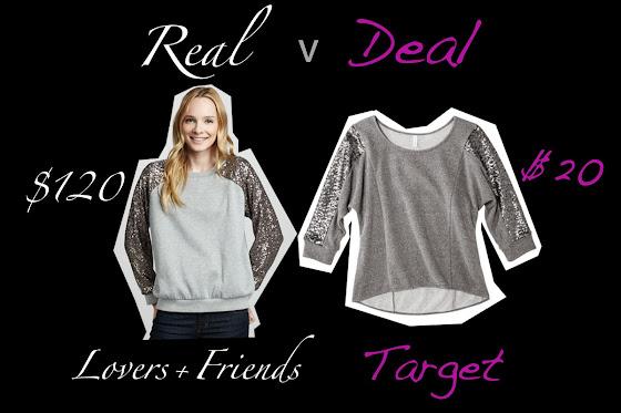 real versus deal featuring Target