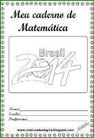Capa de caderno matemática-copa