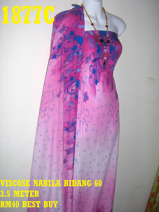 VN 1877C: VISCOSE NABILA BIDANG 60 INCI, 3.5 METER