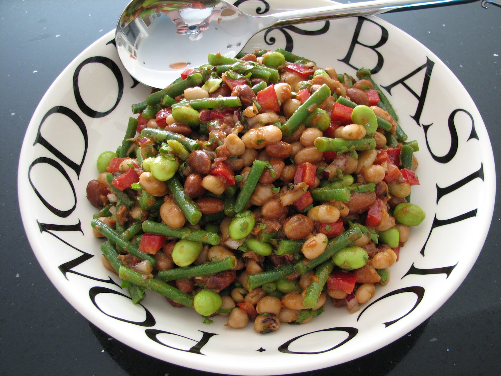 Simply Veggie: Mixed Bean Salad with Tomato Dressing