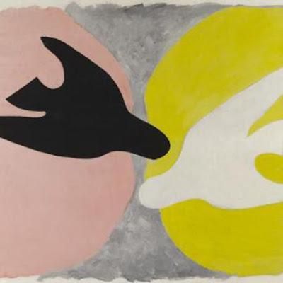 Georges Braque - L'oiseau blanc et l'oiseau noir,1960.