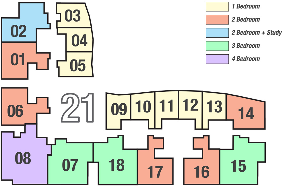 keyplan of Tower A1 Marina One