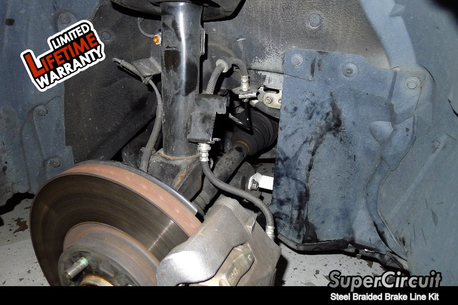 Direct Replacement Brake Lines : Supercircuit steel braided brake lines mazda mps