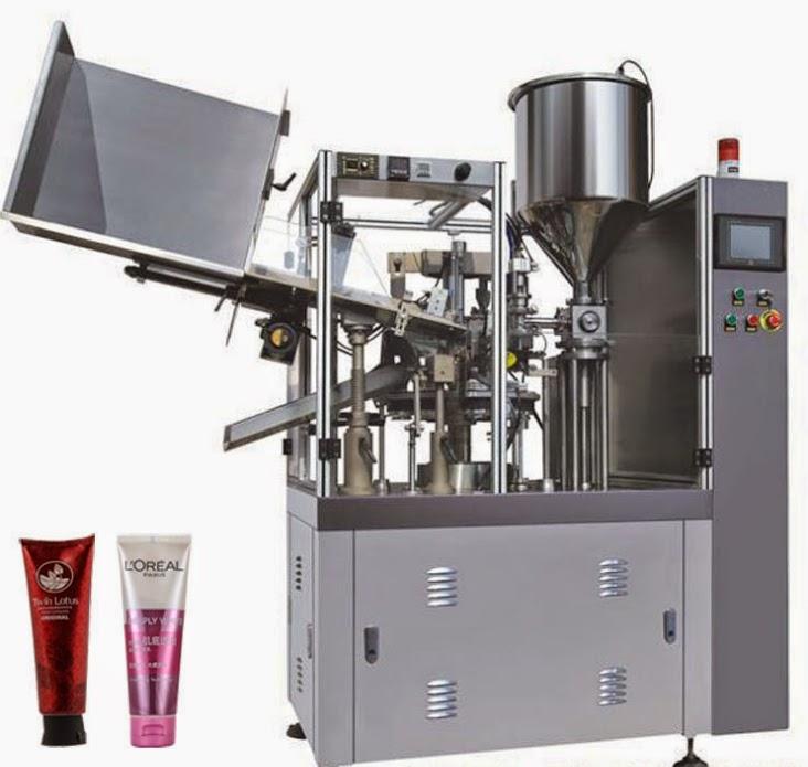 automatic soft tube filling sealing machine for baby cream 自動チューブシール充填機