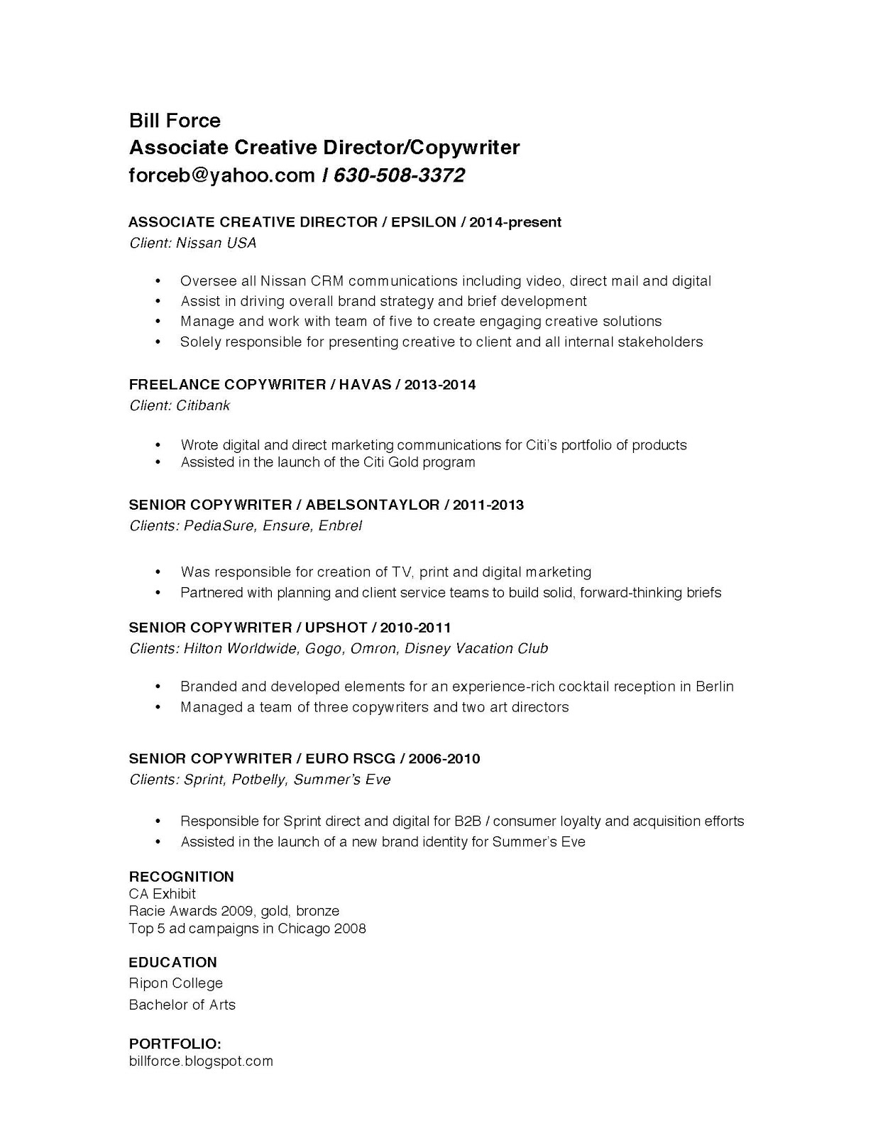 associate creative director resume best ideas about marketing