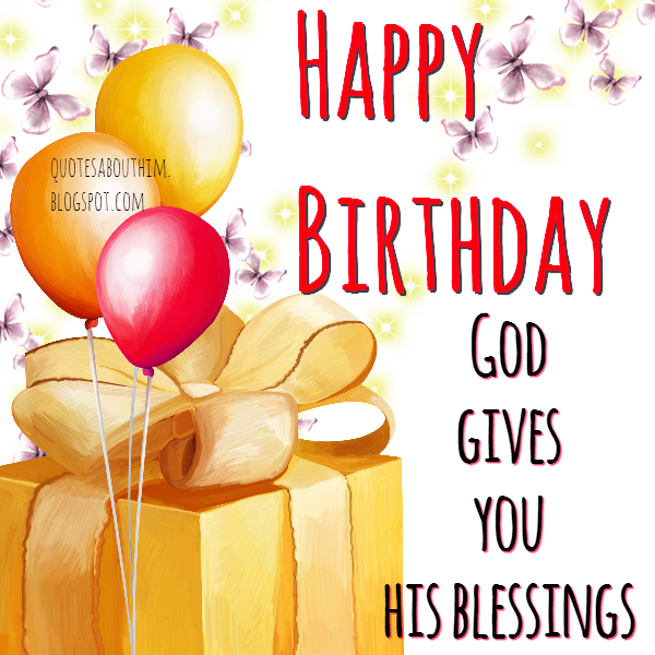 happy birthday with blessings of god inspirational