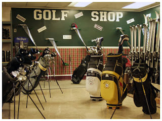 Gold shop, favorite haunt of the Avid Golfer