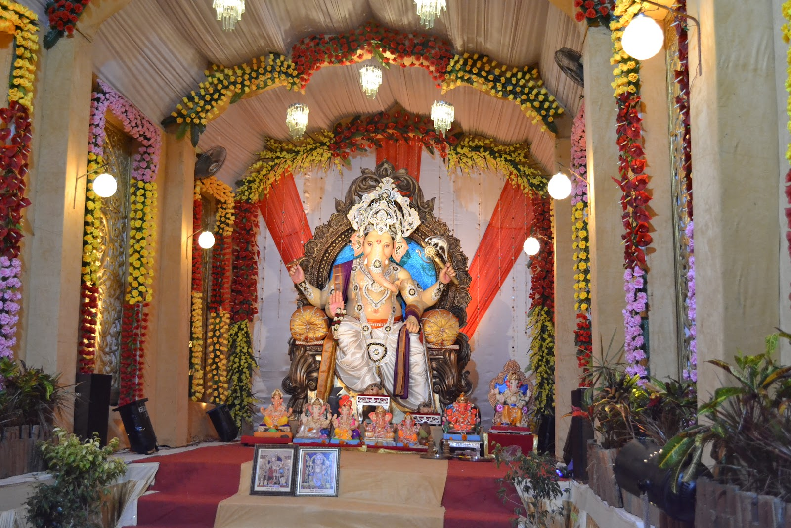Ganesh background decoration images for Decoration ganpati