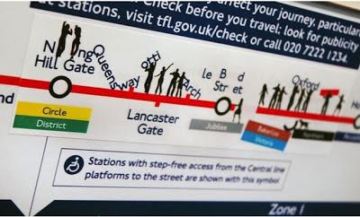 pegatinas bromistas en el metro de Londres