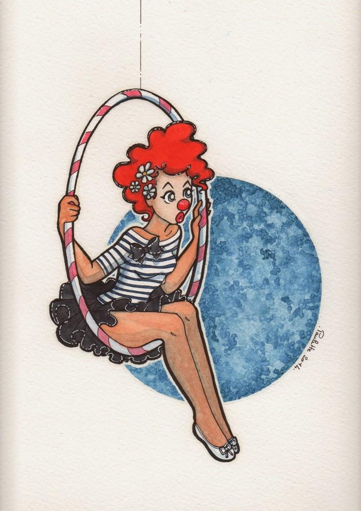 Girls Drawing Girls: Circus : mime, dancer & acrobat