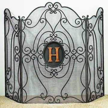 whimsy girl: Friday Finds: {Monogram Fireplace Screen}