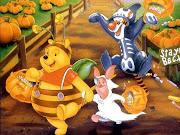 Funny Pooh Celebrating Halloween