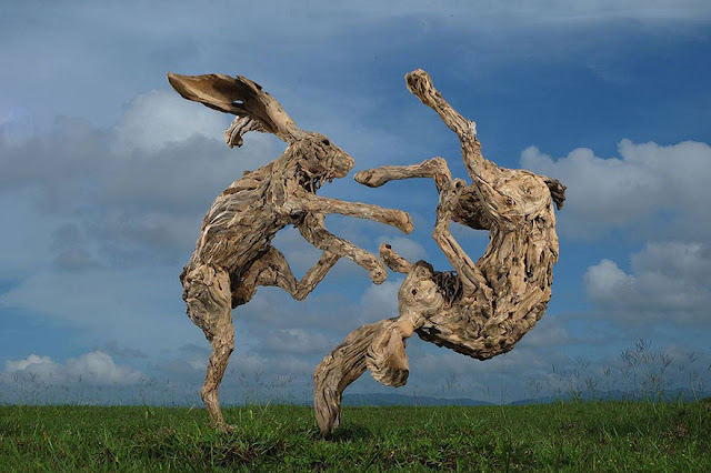 James Doran Webb amazing driftwood sculptures