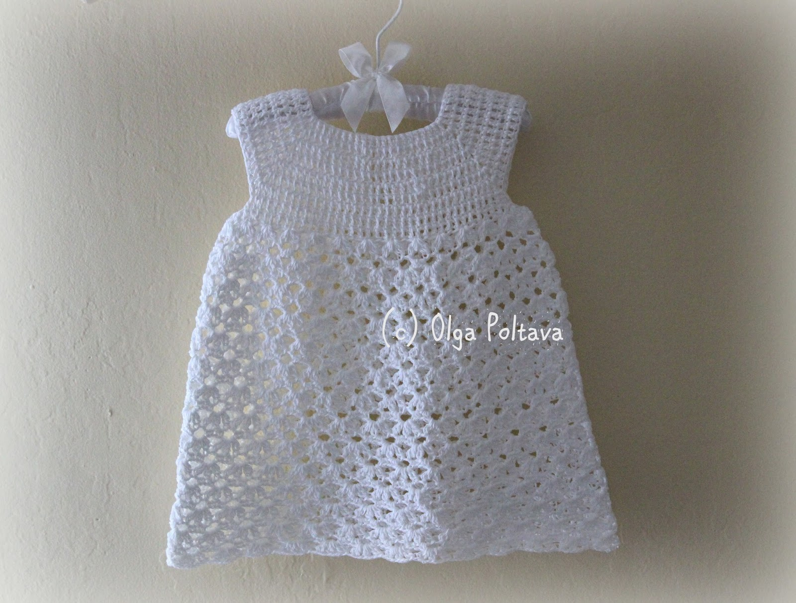 How To Crochet Baby Dress Pattern : Lacy Crochet: Two New Patterns: Baby Dress and Girls Hat