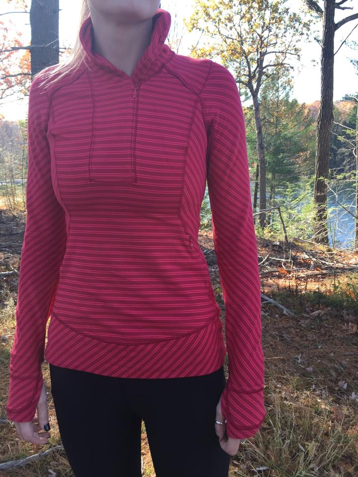 lululemon think fast pullover stripe