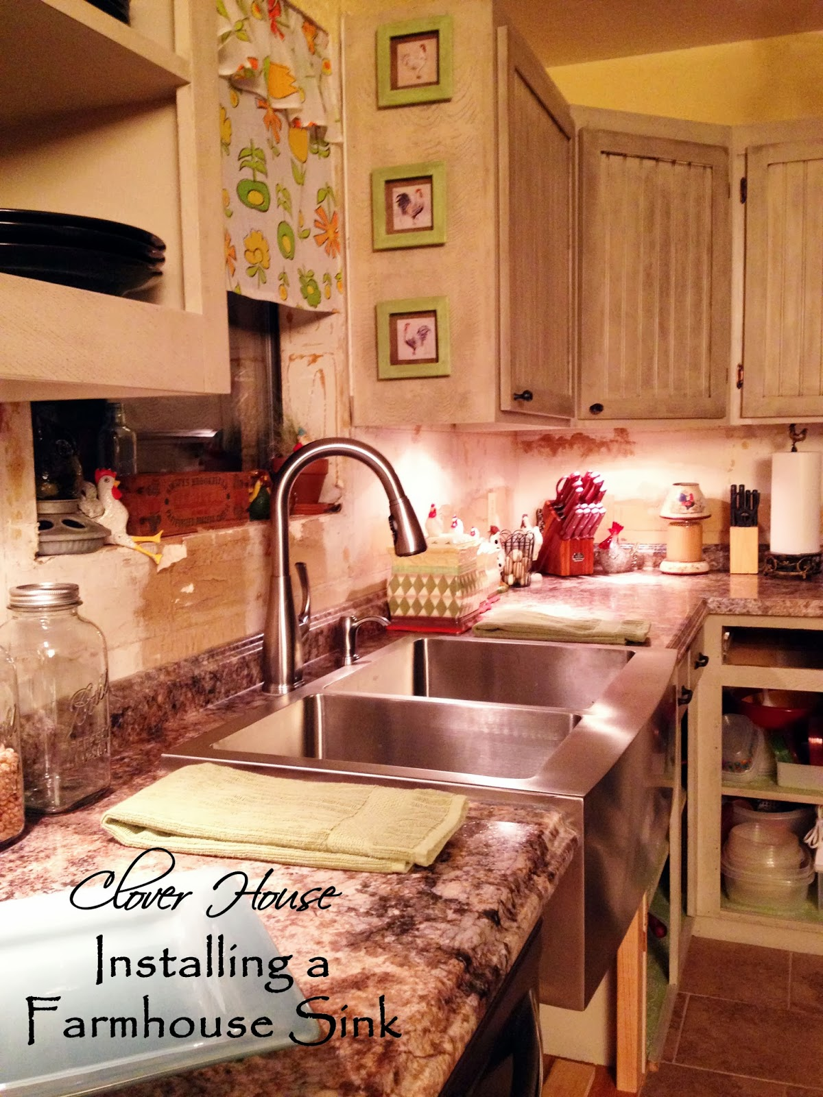 Installing A Farmhouse Sink : Clover House: Installing A Farmhouse Sink