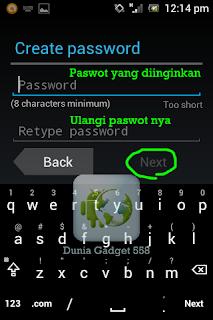 Membuat password pada akun gmail
