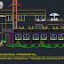 مخطط مشروع مركب سياحي فندق + مطعم اوتوكاد dwg