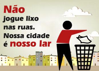 Não jogue lixo na rua!!!