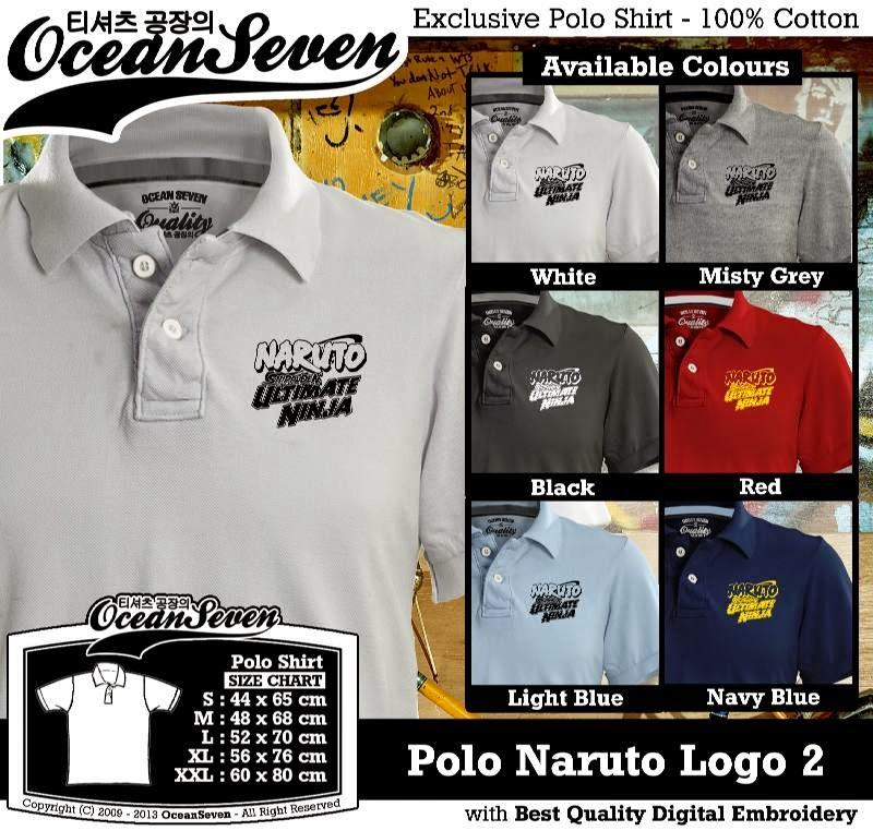 Kaos Polo Naruto Logo 2