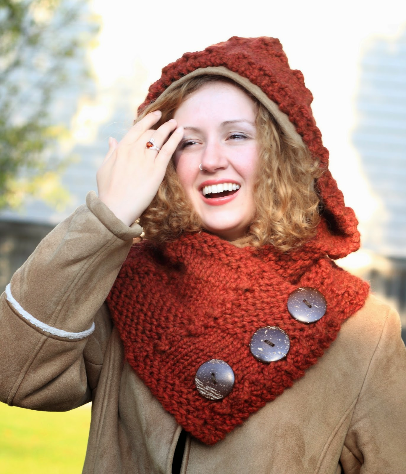 Through the Knitting Lens: Fall Woods Quilt Squares: Hooded Cowl ...