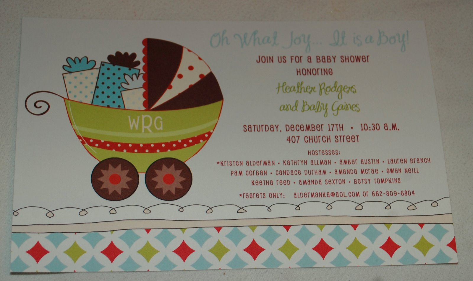 baby face design christmas baby shower invitation
