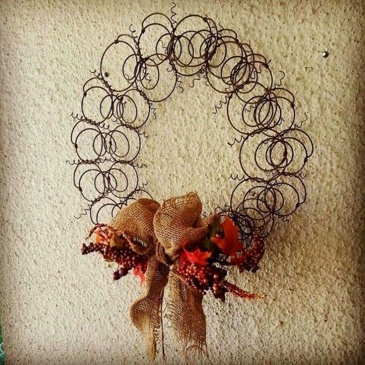 DIY upcycled holiday wreaths