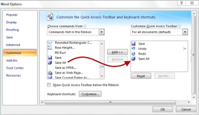 Save All gumb u Microsoft Office Word 2007