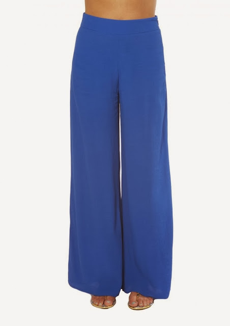 palazzo pants, thrifty shopping, colaba shopping, blue palazzo, how to wear palazzo pants