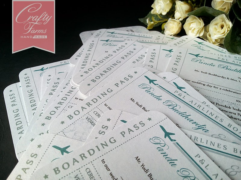 Boarding pass ticket for destination wedding