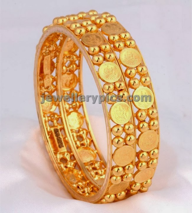 kasu gold bangles set