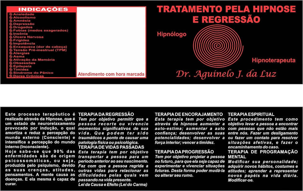 TRATANDO COM HIPNOSE E REGRESSÃO