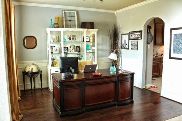 Decorating cents formal dining rooms turned offices for Dining room into office