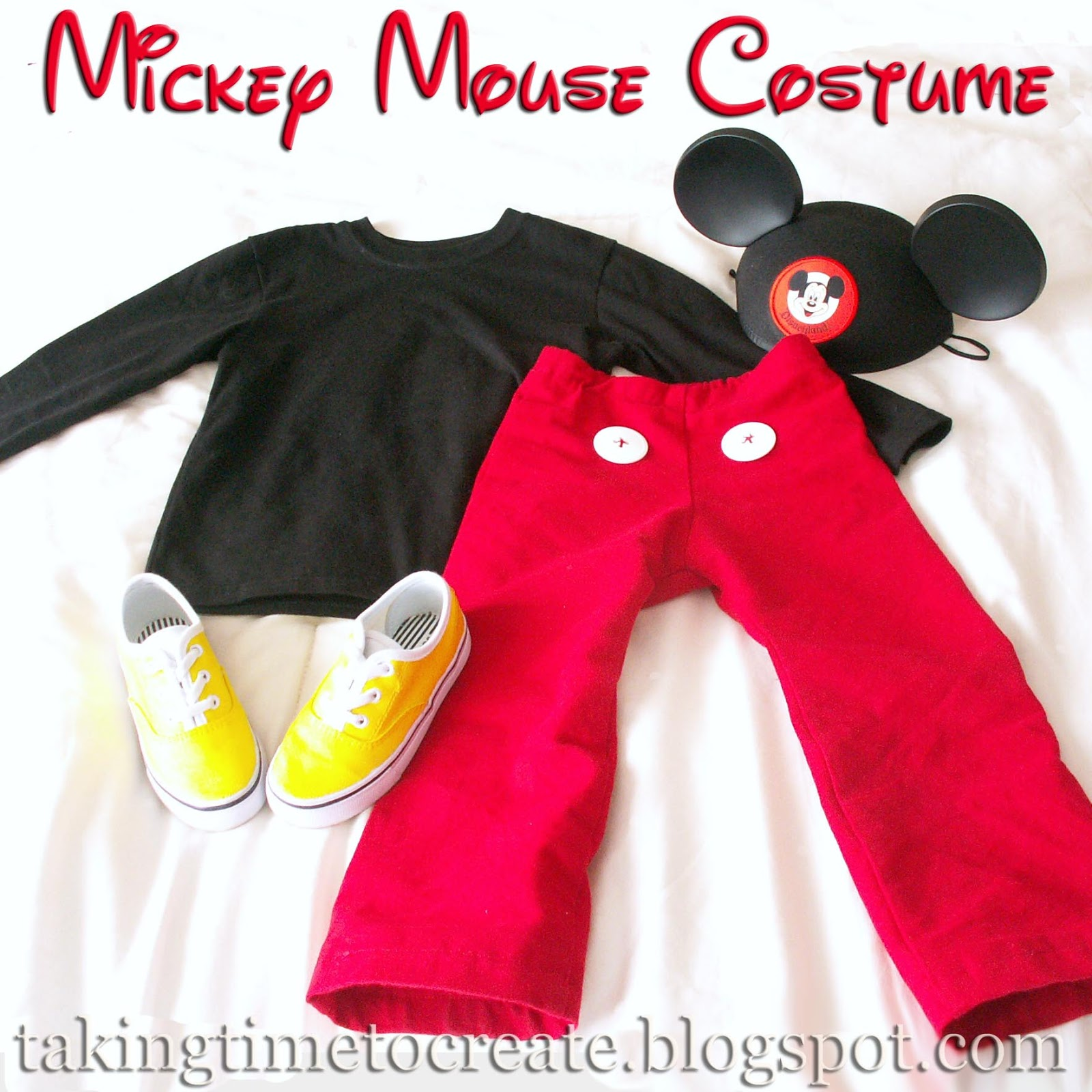 A Simple Mickey Mouse Costume  sc 1 st  Taking Time To Create & Taking Time To Create: A Simple Mickey Mouse Costume