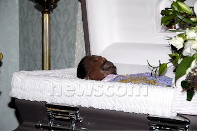 Marvin gaye open casket photo james brown lying in state