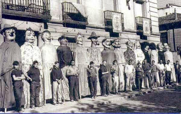Fiestas en Alcalá de Henares, Madrid 1966, Comparsa Gigantes y cabezudos