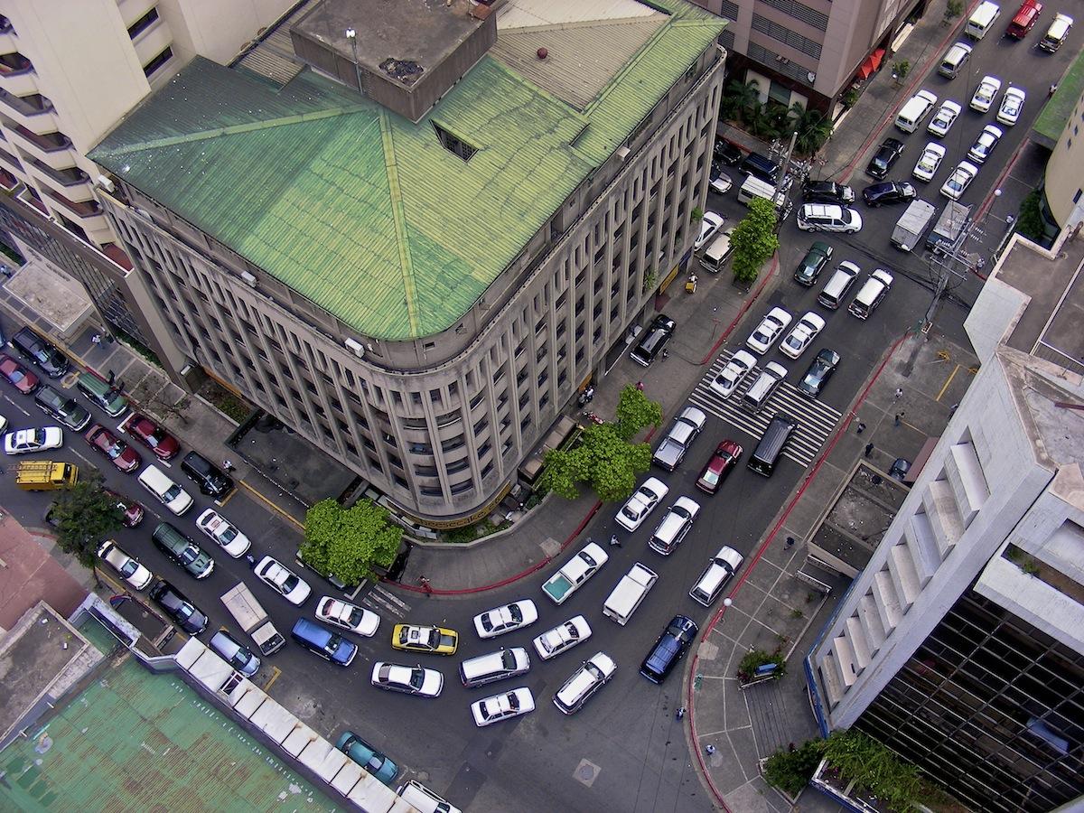 Makati City Philippines rush hour.