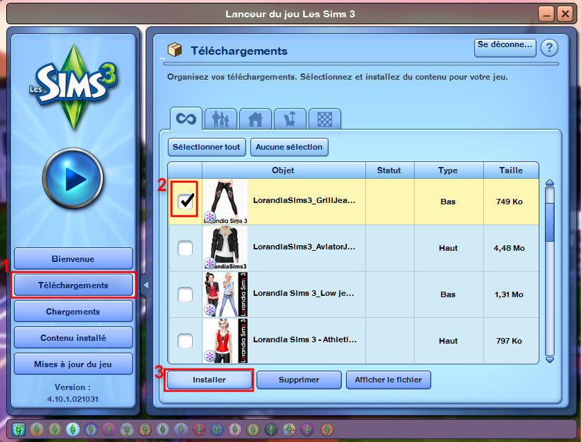 Sims 3 telecharger berceuses et comptines tingrecmu for Sims 3 store torrent